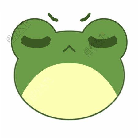 生气的青蛙