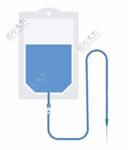 蓝色医疗液体