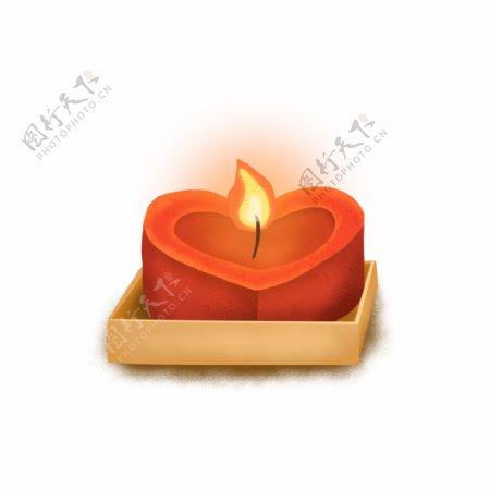 蜡烛花灯祈祷心形UI古风GIF元素