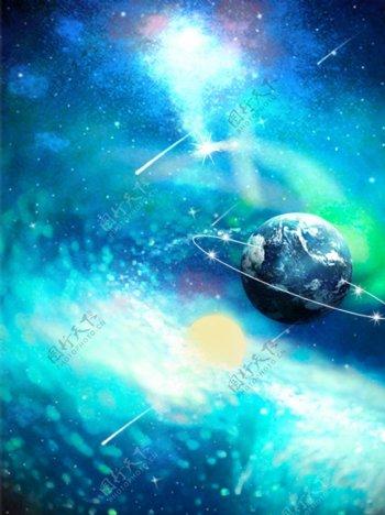 闪耀星河梦幻宇宙背景