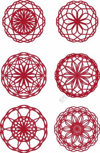 新年红色喜庆剪纸窗花原创设计元素