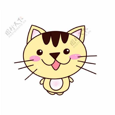 小猫可爱卡通元素