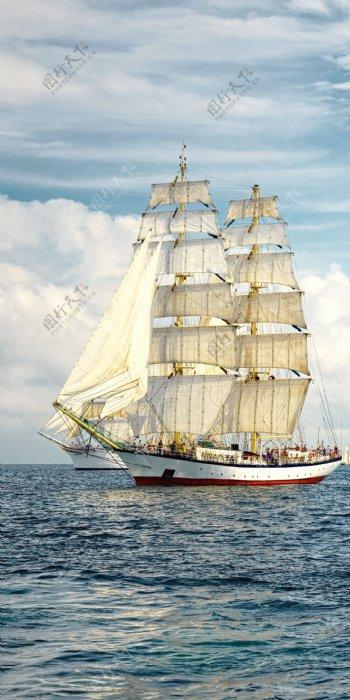 中式轻奢侈一帆风顺背景墙