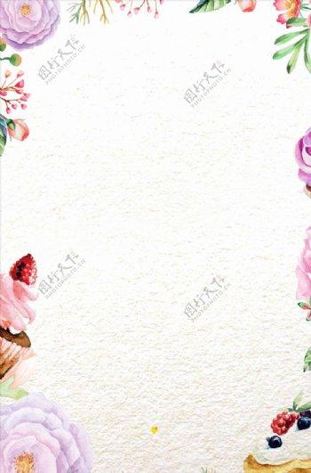 设计花朵海报唯美