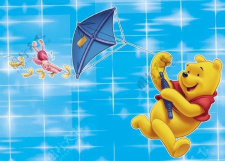 小熊维尼放风筝