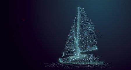 一帆风顺帆船背景素材