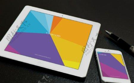 iPad手机样机场景ps贴图