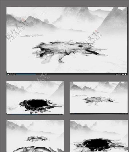 中国风水墨背景视频素材