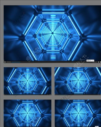动感隧道立体舞台背景视频素材