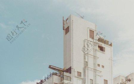 纯白建筑景观