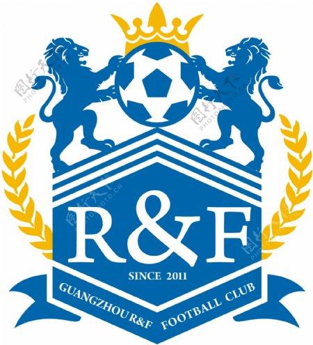 中超广州富力足球俱乐部新队徽