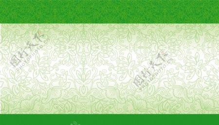 绿色花纹素材设计花纹