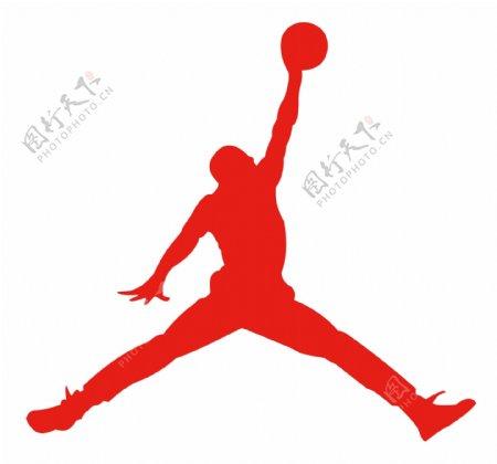 乔丹扣篮图雕刻镂空篮球之神