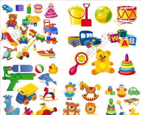 矢量儿童玩具