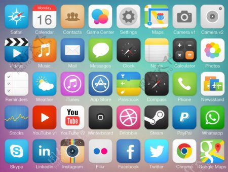 图标手机UI元素电话图