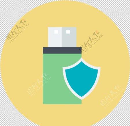 u盘保护图标