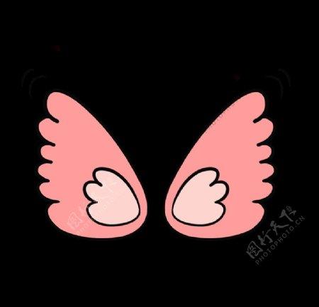 原创卡通手绘粉色翅膀GIF动图
