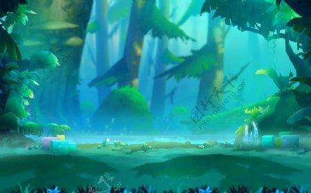 动漫动画森林场景