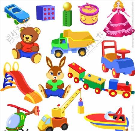 矢量儿童玩具素材