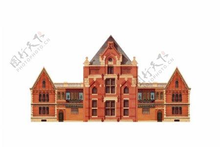 欧式建筑插画