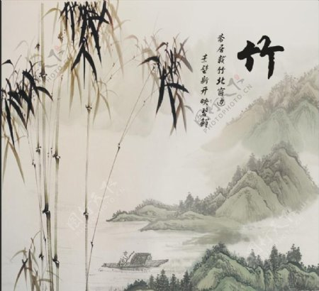新中式竹子背景墙