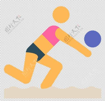 排球运动标志图形图标装饰素材