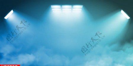 蓝色舞台聚光灯