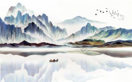 新中式意境抽象山水