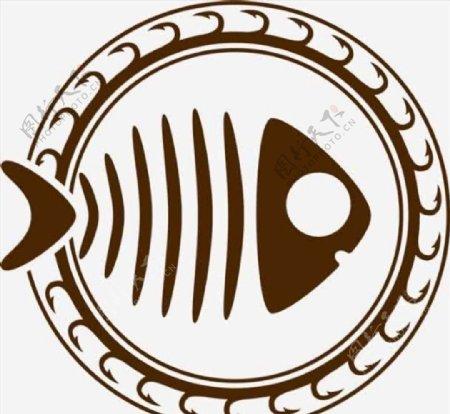 鱼形图案钓鱼图标CDR矢量图
