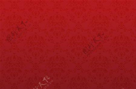 中国风中国红底纹