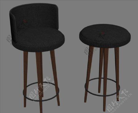 吧椅3D设计模型