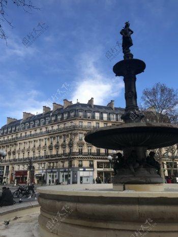 欧式建筑室外广场雕塑