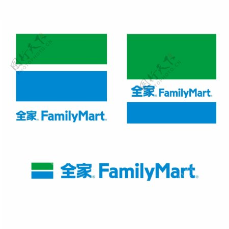 全家logo超市卖场便利店