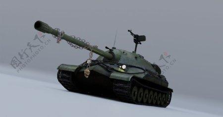 坦克武器模型插画背景