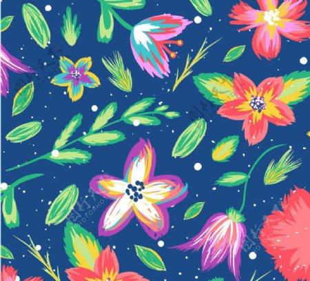 矢量花朵底纹背景