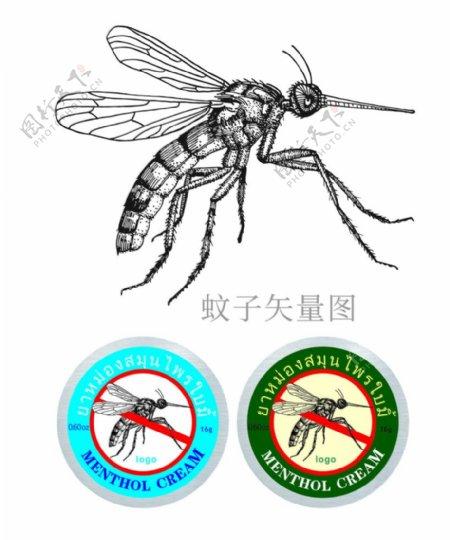 蚊子矢量图