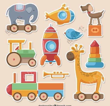 色彩鲜艳玩具收藏