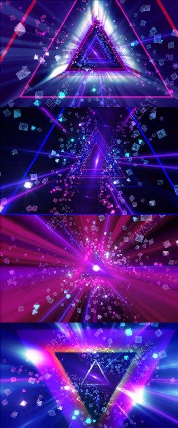 动感舞蹈演出舞台背景VJ视频素