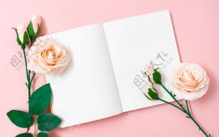 空白纸张浪漫摄影图
