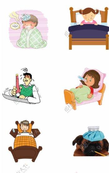 感冒生病素材图片