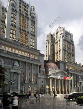欧式建筑无贴图图片