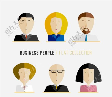 平化商务人物头像图片