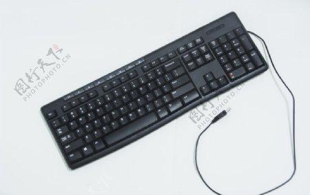 黑色电脑配件键盘图片