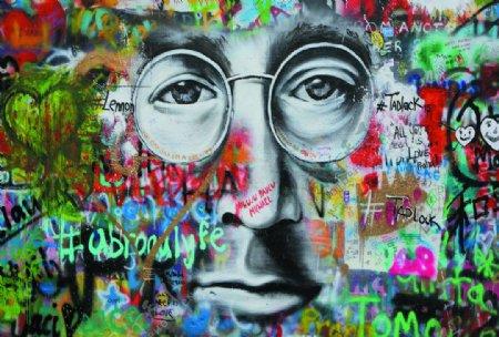 墙体人像涂鸦街头彩绘涂鸦图图片