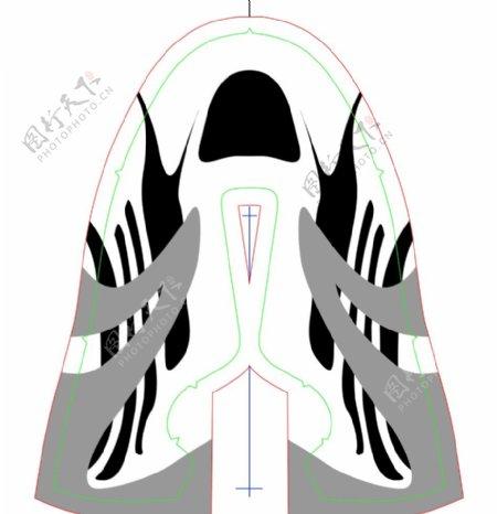 运动鞋面平面设计图片