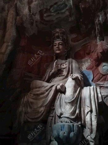 大足石刻菩萨图片