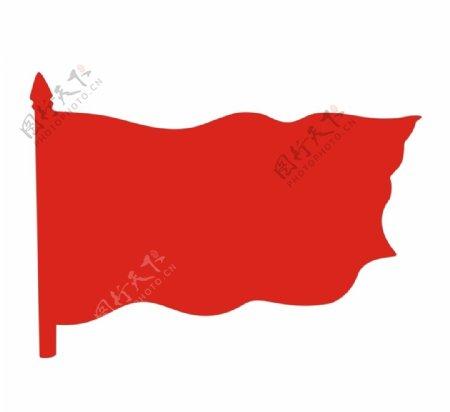 红旗旗帜图片