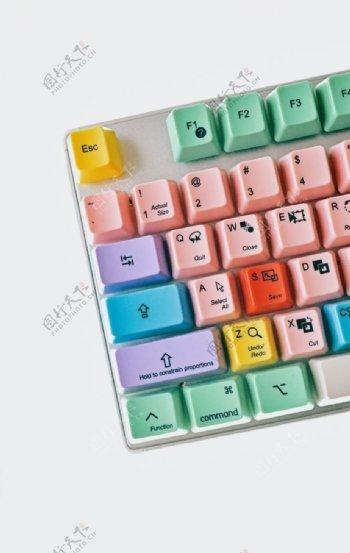 彩色键盘图片