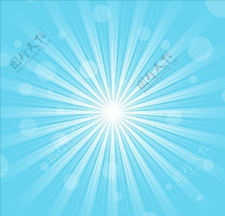 天蓝色放射状背景图片