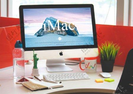 苹果电脑iMac样机展示图片